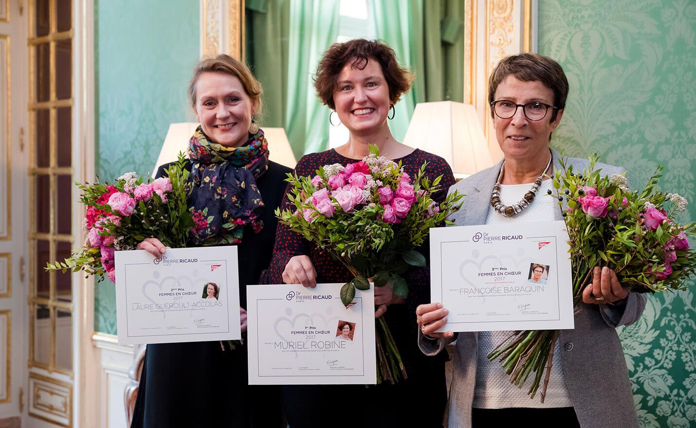 prix femmes en choeur pierre ricaud 2017 pour action femmes grand sud